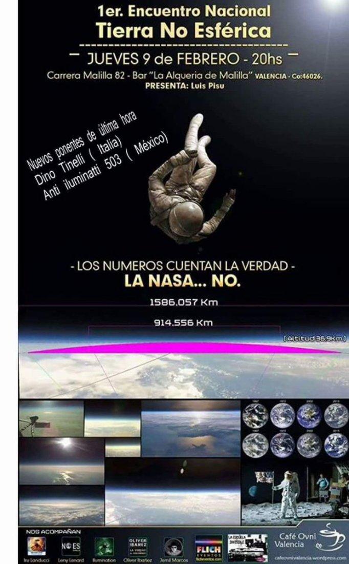 La tierra es plana. Los números cuentan la verdad que la NASA oculta.